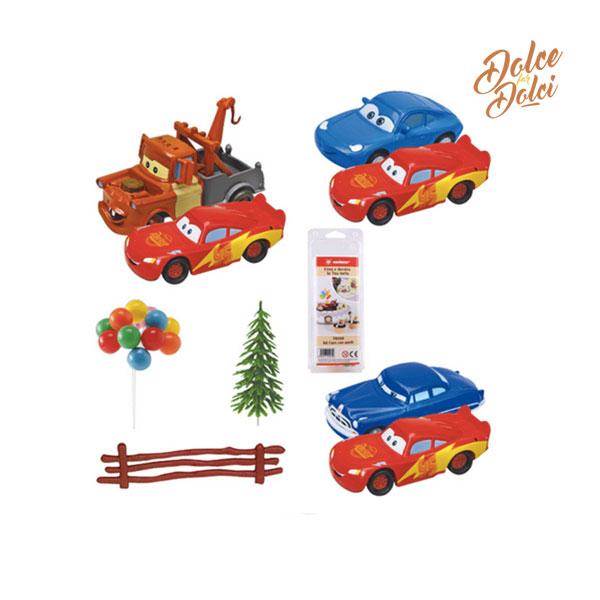 kit per torta cars modecor 7pz dolce far dolci
